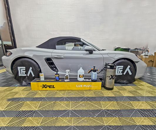 水泥灰保时捷718--XPEL透明车衣
