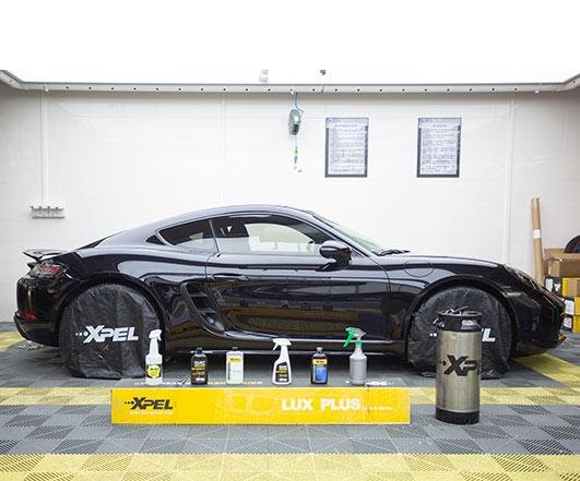保时捷黑色硬顶718贴XPEL隐形车衣