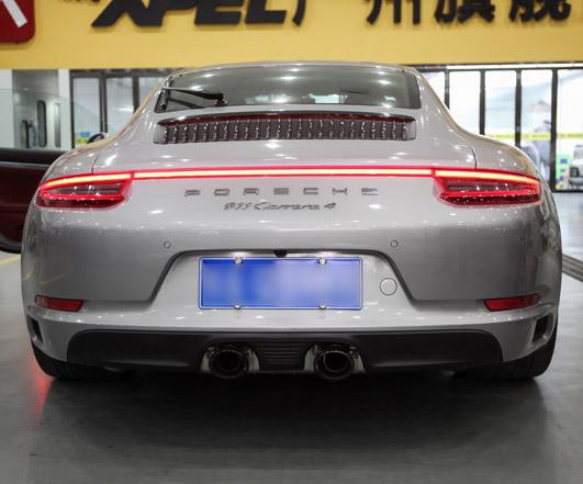 保时捷GT银911改装原厂运动排气