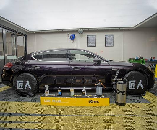 紫水晶金属漆保时捷Panamera 贴XPEL隐形车衣
