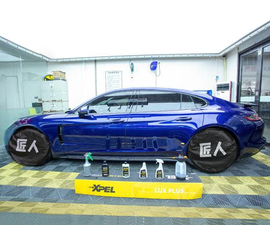 2020款龙胆蓝保时捷Panamera--XPEL抗刮隐形车衣